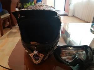 Casco Fox para Motocross Y Lentes