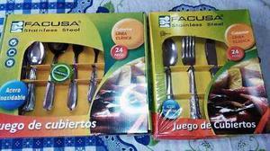 Juego De Cubiertos Facusa 24 Piezas