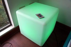Cubo Led De Iluminación Con Control Remoto
