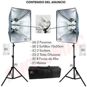 Kit De Luz Continua Para Estudios De Fotografia O Filmacion