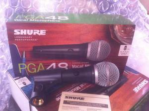 Microfono Profesional Shure Pga48 Completo Original
