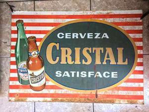 Antigua Publicidad Cerveza Cristal  Antiguo Retro Vintag