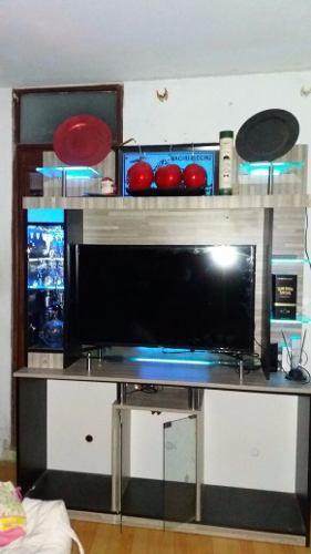 Estante para tv equipo bar separador posot class - Mueble separador de ambiente ...
