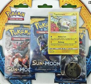 pokemon tcg sun and moon triple booster pack togedemaru