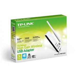Adaptador USB Inalámbrico de Alta Ganancia 150Mbps TLWN722N