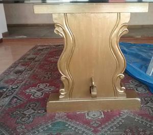 Mesa de comedor elegante con base de bronce posot class - Bases para mesa de comedor ...