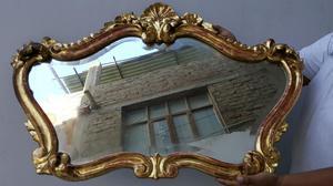 Antiguo Espejo Luis Xv Tallado Y Biselado Gratis Envio