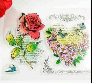 Sello para Mama,rosas Romantico,scrabook