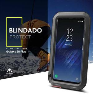 Case Original Love Mei Galaxy S8, S8 Plus + Glass