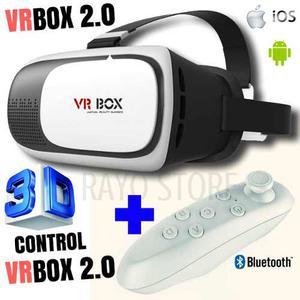 Lentes Vr Box 2.0 Y Mando Joystick Bluetooth Realidad Virtua