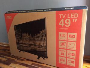 """Vendo Tv 49"""" Led Aoc Nuevo"""