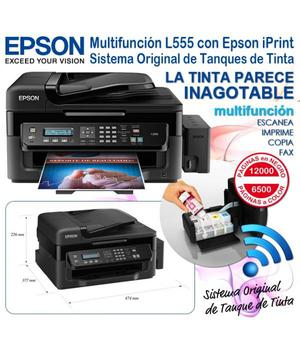 Impresora Epson L555 Multifuncional Con Sistema Continuo