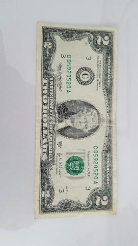Billete De 2 Dólares De La Suerte