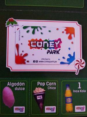 Coney Park - Tarjeta Precargada Con 3 Horas De Juego