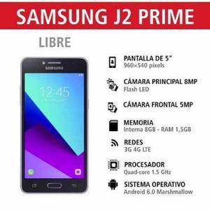SAMSUNG GALAXY J2 PRIME 4G LIBRE 8MPX RAFIO NUEVO EN CAJA