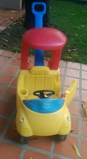 carrito de paseo con guiador para niños little tikes carro