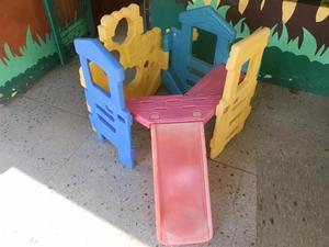 juego resbaladera plegable para niños little tikes no step2