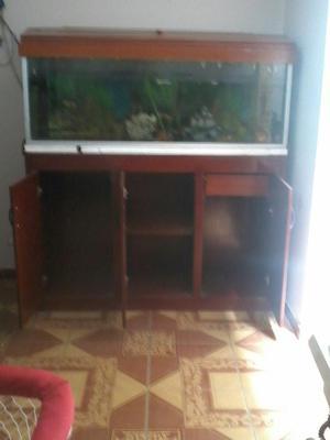 Pecera con mueble de madera posot class - Muebles tapa tapa ...