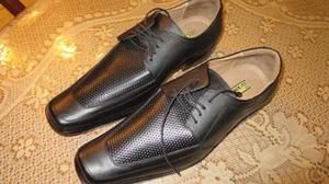 Zapatos De Cuero Genuino Talla 42 Nuevos