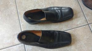 2 pares de zapatos de cuero. Hombre. Talla 44. En buen