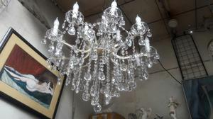 Araña Lampara de Cristal de 15 Luces