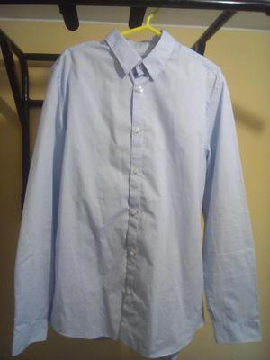 Camisa M, HM, Celeste claro Slim Fit, ... Precio