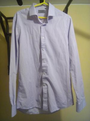 Camisa cuello15, Marquis, Original, Lila claro, Slim Fit,