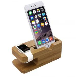 Dock Station Para Apple Watch & Iphone (bamboo)