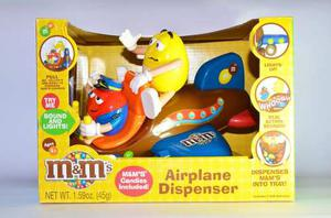 Juguete Dispensador De Chocolates M&m Airplane