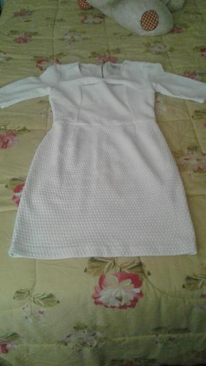 Vestido Blanco Marca Dejavu