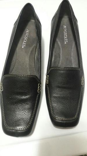 Zapatos Negro de Cuero Mujer Talla 40.5
