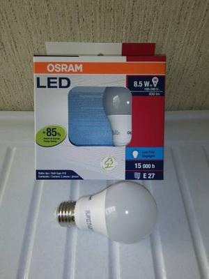 Foco Led Clásico 8.5w = 60w 120v Luz Día/fría E27 Osram