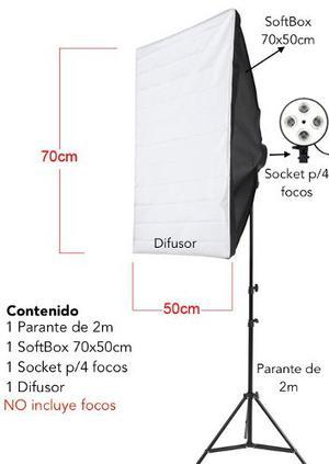 Kit De Iluminación Softbox Parante Socket