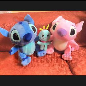 Peluche Stitch Y Angel Importado