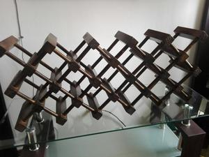 Portavinos de Madera Muy Decorativo