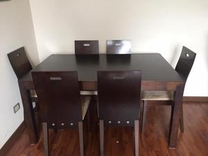 Mesa de comedor linear expandible mica posot class for Vendo sillas comedor