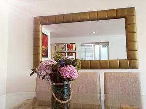 Espejo decorativo para sala comedor labrado posot class for Espejo rectangular pared
