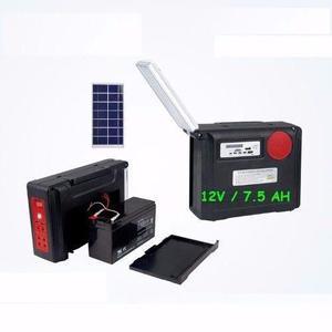 Sistema Iluminacion Solar Por Mayor Bateria 12v-7.5ah Resist