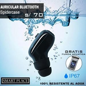 Auricular Bluetooth Spidercase Acuático Ip Waterproof