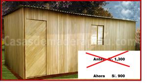 Casa prefabricada de madera posot class for Vendo casa madera