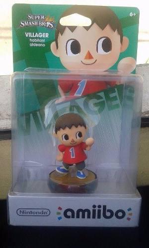 Amiibo Villager Super Smash Bros Wiiu Nintendo Nuevo
