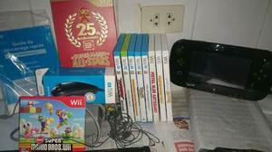 Nintendo Wii U 32gb Negro 7 Juegos Originales