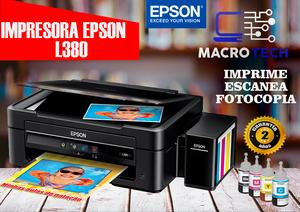 Epson L380 Multifuncional de tinta continua,