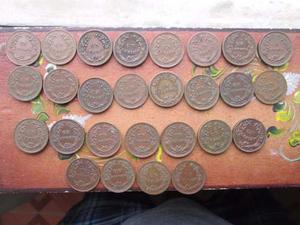 Hn Monedas Un Centavo De Cobre Por Años Lote 22 Monedas