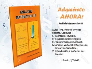 LIBRO ANALISIS MATEMATICO III Ing. Horacio Urteaga B.