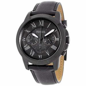 Reloj Fossil Cuero Negro Fs -- Tienda Relojeando