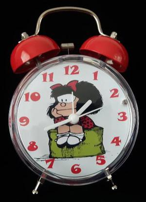 Lindo Reloj Despertador Estilo Vintage Mafalda