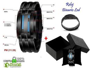 Reloj Binario Led Samuray Deportivo Caja Regalo