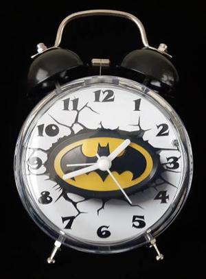 Reloj Despertador Estilo Vintage Batman Emblema 3d Lindo