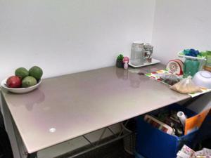 Mesa de directorio o reuniones vidrio templado y posot class for Vidrio templado mesa